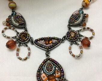 Vintage Tribal Necklace Statement Necklace Bib Necklace Beaded Necklace Gemstone Necklace Vintage Jewelry Tribal Jewelry Statement Jewelry