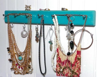 Colorful Jewelry Organizer & Hanger, Cute and Functional Closet/Dorm Organizer, Choose Your Color. A Great Shower or Anniversary Gift Idea