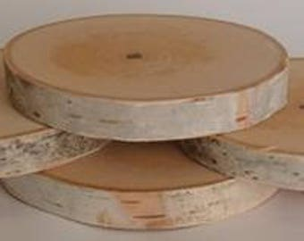 Birch Log Coasters set of six