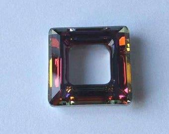 SWAROVSKI 4439 Cosmic Square Crystal Bead 20mm VOLCANO