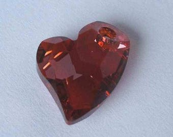 1 SWAROVSKI 6261 Devoted Heart Pendant 17mm RED MAGMA