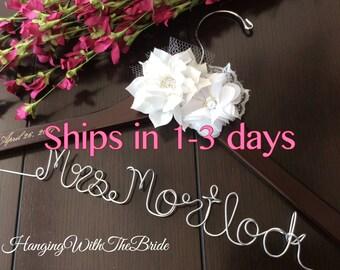 Bride hanger, Wedding hanger, custom wire hanger, bridal hanger, bride gift, bridesmaids gift, custom made hanger