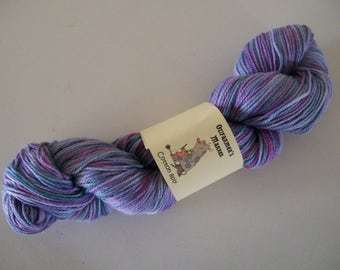 8ply/DK weight cotton.   Hand-dyed  100gm-  Ooh Dee Dee