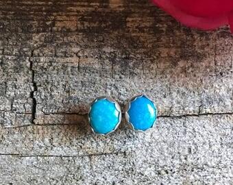 Kingman Turquoise Earring Studs