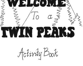 Twin Peaks Activity Book adult coloring book cult twin peaks series David Lynch Agent Cooper Fire Walk With Me fanclub collectors item gift