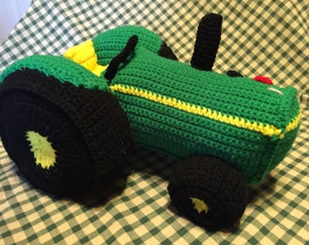 Green Toy Tractor PDF download pattern