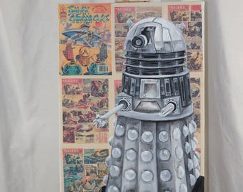 Original Painting of The Dalek from Doctor Who