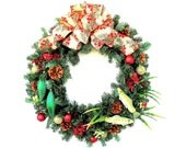 Christmas Wreath - Rustic Christmas Wreath - Pine Cone Wreath - Fisherman Wreath - Holiday Wreath - Ready to Ship Wreath