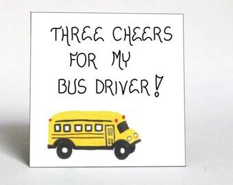 Bus Driver Gift - Fridge Magnet -Yellow Schoolbus quote of appreciation