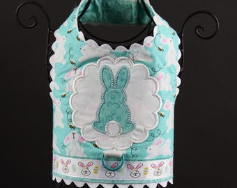 EASTER:  Bunny Love Dog Harness in Aqua