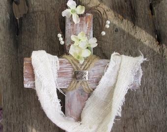 Handmade Cross, Wood Cross, Cross Plant Stake, Cross Grave Marker, Cross Roadside Memorial, Pet Memorial