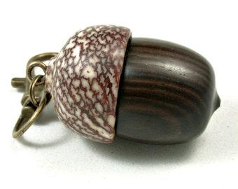 LV-3578  Mun Ebony  and  Betelnut  Pendant Box,  Pill Holder-SCREW CAP