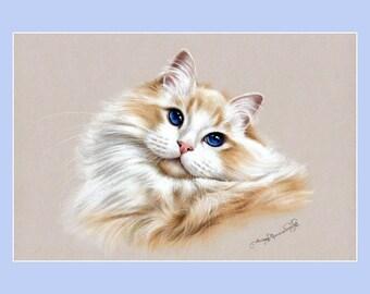 Ragdoll Cat Print Beauty by Irina Garmashova