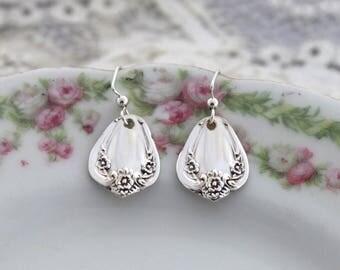 Spoon Jewelry Earrings Silverware Earrings Jewelry - DAYBREAK 1952 - STERLING Silver Ear Wires Keepsake Gift & Ready To Ship