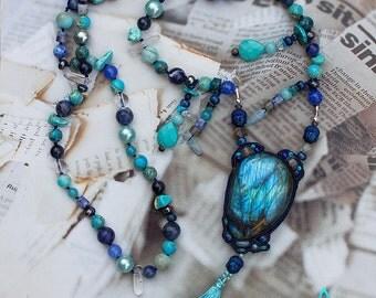 """Necklace """"Blue Budda"""""""