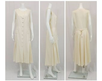 LOUIS FERAUD Drop Waist Silk Dress US Size 12