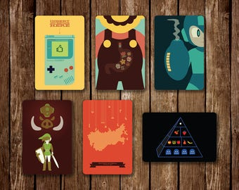 Video Game Postcard Set