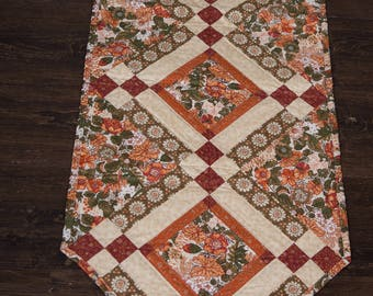 Brown Quilted Table Runner
