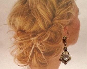 HOLIDAY SAVINGS Art Deco Earrings Vintage 1920's Bridal Wedding Gatsby Fantasy