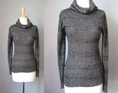 Silver Lurex Turtleneck /...