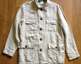 Vintage Linen Bush Jacket