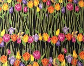 Garden Glitz Tulip Fabric, 2/3 Yard