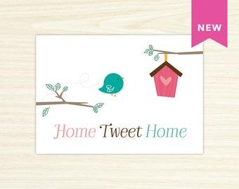Wall Print - Home Tweet Home