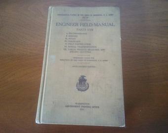 Engineer Field Manual - Engineering Book - Engineer Manual From 1917 - Vintage Book