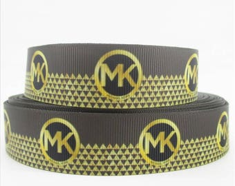 "1"" MK Michael Kors Grosgrain Ribbon"