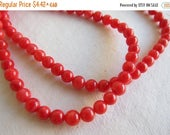 """Flash Sale - 4.5mm to 5mm, Mother-of-Pearl Shell, Light Red, Round Beads - 1/4, 1/2 & Full (16"""") Strands are Available from the 'Select an O"""