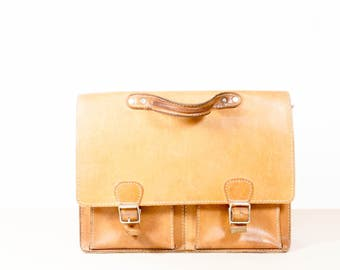 Vintage real leather briefcase