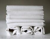 60 white linen napkins  31x31 cm size