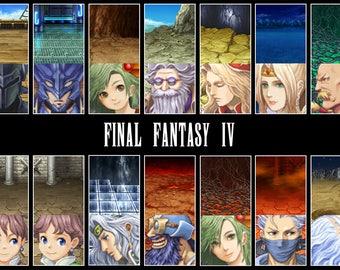 Video Game Art Print - Final Fantasy IV - Super Nintendo Tribute