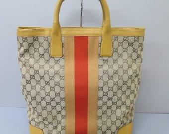 Gucci stripe iconic bag vintage