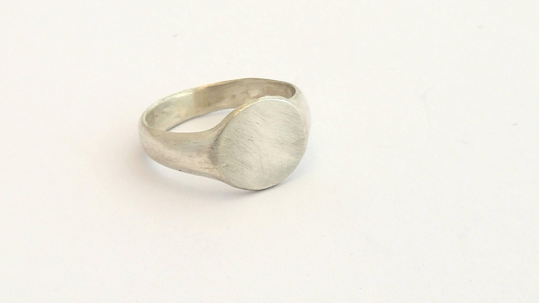 Silber Siegelring Minimalistische Ring Ring am kleinen