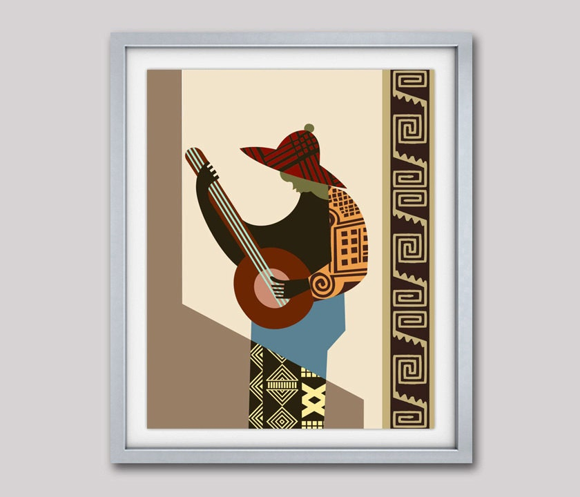 African painting african print african artwork african for African mural painting