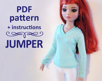 PDF pattern Jumper for MSD bjd Minifee, Ellowyne, Tonner & Similar dolls