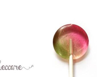 New - Watermelon Pistachio // 12 Lollipops // Spring Wedding Favor // Pink Favors // Watermelon Lollipops // Fall Wedding // Summer Wedding