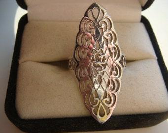 Ornate Open Design Ring