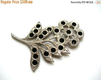 Silver Brass Flower Stamping - Large Flower Finding - Stamped Brass Rhinestone Blank