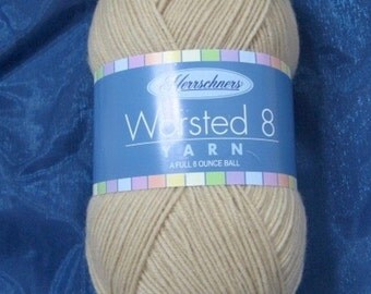 Yarn destash  – 8 ounces – tan yarn – Herrschner's 4 ply Worsted Yarn