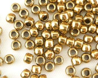 TOHO Round 8/0 Metallic Gold Seed Beads Glass (12g) - T129/R-08-221
