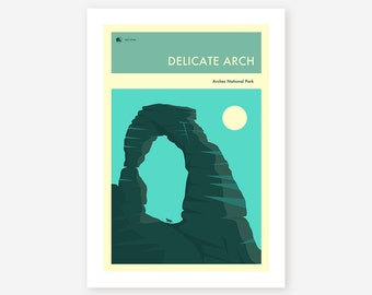 ARCHES NATIONAL PARK (Giclée Fine Art Print, Photo Print or Poster Print) 'The Delicate Arch' by Jazzberry Blue