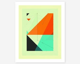 Giclée Fine art Print, Abstract, Geometric Artwork by Jazzberry Blue, DELINEATION (116)