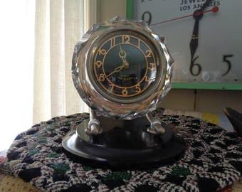 Vintage Mantle Clock, Russian Wind-Up Clock, Desktop Clock