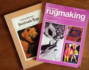 Two Rugmaking Instruction Books 1970s