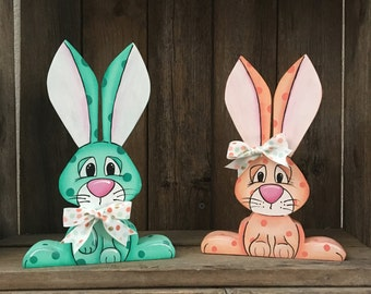Wood Easter Bunny Wood Bunny Easter Bunny Easter Decor Bunny Decor
