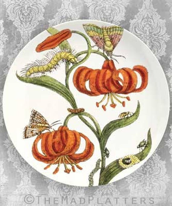 Lily II melamine plate