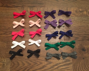 Little Felt Pigtail Bows - set of 2