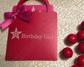 Custom Listing for Melanie - Birthday Girl Shopping Bag & Favor Bags